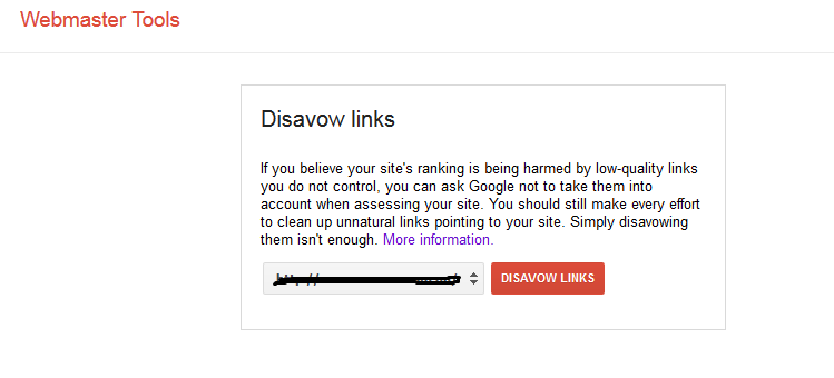 Disavow Links - Google Webmaster Tools