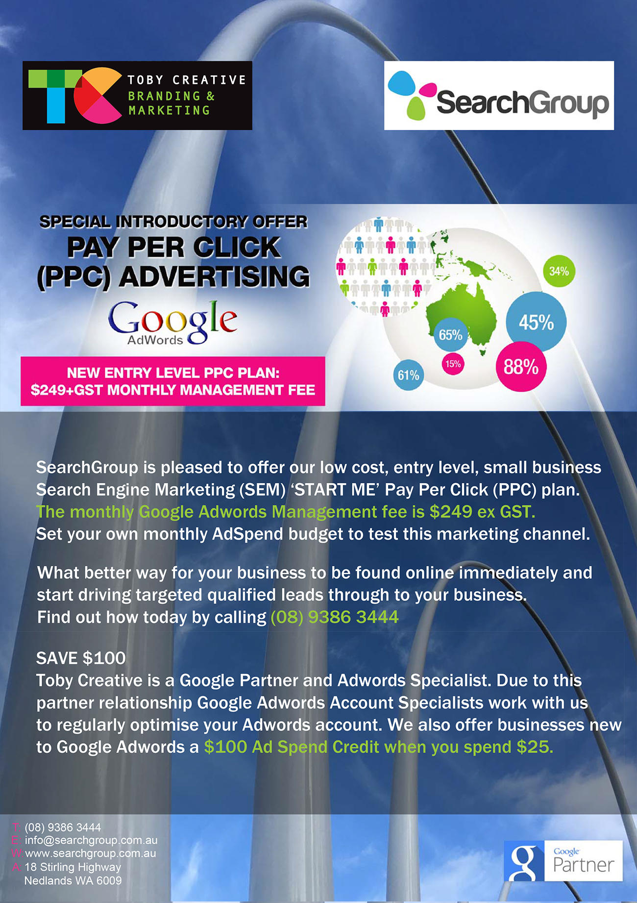 Search Group – Perth Search Marketing Google Adwords PPC START ME Ad Plan